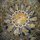 The Ceiling mosaic of The Baptistry of Neon. Ravenna, Italy Stock Photography