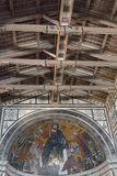 The ceiling and mosaic inside Basilica San Miniato al Monte, Florence, Tuscany, Italy royalty free stock photo