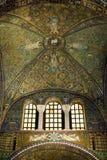 Ceiling mosaics The Basilica of San Vitale. Ravenna, Italy, Basilica of San Vitale. Triumphal arch mosaics Stock Image