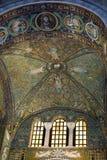 Ceiling mosaics The Basilica of San Vitale. Ravenna, Italy, Basilica of San Vitale. Triumphal arch mosaics Royalty Free Stock Image