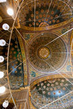 Ceiling in the Mosque of Muhammad Ali Royalty Free Stock Photos