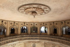 Ceiling of mosque with onlookers stock photography