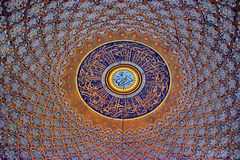 Ceiling in the mosque Royalty Free Stock Photos