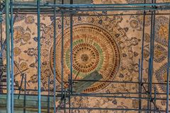 Ceiling of the mosque renovation in Yazd Stock Photography