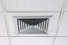 Ceiling Mounted Air Conditioner. Ceiling Mounted Air Conditioner in Modern Office Royalty Free Stock Photo