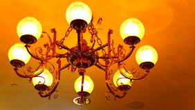 Ceiling mounted chandelier royalty free stock image