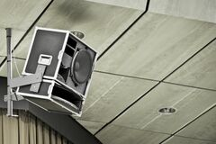 Ceiling mounted speaker Royalty Free Stock Photo