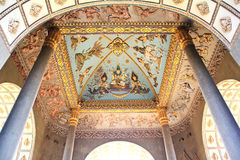 Ceiling Mural of Patuxai arch monument Royalty Free Stock Image