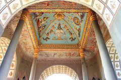 Ceiling Mural of Patuxai arch monument Stock Image