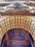 Ceiling Mural of Patuxai arch monument in Vientiane Royalty Free Stock Photos