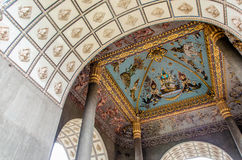 Ceiling Mural of Patuxai in Vientiane, Laos. Royalty Free Stock Images