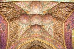 Ceiling Nasir al-Mulk Mosque, Iran Royalty Free Stock Image