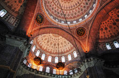 Ceiling of New Mosque, Istanbul Stock Photo