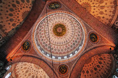 Ceiling of New Mosque, Istanbul. Ceiling of New Mosque Yeni Cami - pronounced Yeni jami, Istanbul, TURKEY October, 2014 Stock Image