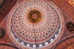 Ceiling of New Mosque, Istanbul. Ceiling of New Mosque Yeni Cami - pronounced Yeni jami, Istanbul, TURKEY October, 2014 Stock Photos