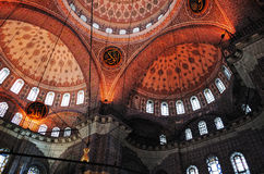Ceiling of the New Mosque, Yeni Cami, Istanbul. New Mosque Yeni Cami - pronounced Yeni jami, Istanbul, TURKEY October, 2014 Stock Photos