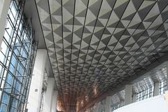 Ceiling of new terminal at Soekarno-Hatta International Jakarta Airport Royalty Free Stock Photos
