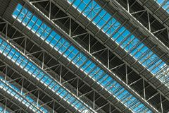 Ceiling of the newly rebuilt Osaka Station, Western Japan.  royalty free stock images