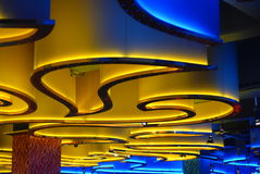 Ceiling in night club. Ceiling in one of Russian night club Stock Image