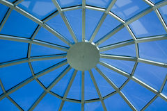 Ceiling in office. Centre and blue sky Royalty Free Stock Image