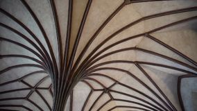 Ceiling in old castle stock footage
