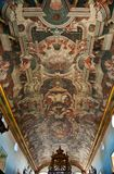 Ceiling of old Church in Brazil Stock Images