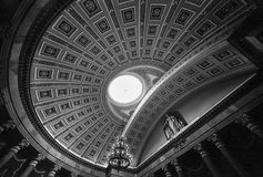 Ceiling Of The Old House Of Representatives Chamber. A wide angle view of the ceiling of the rotunda of the United States House of Representatives chambers in Stock Image
