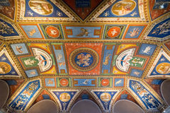 The ceiling in one of the rooms in the Vatican Museum Royalty Free Stock Photography