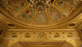 Ceiling of opera theatre of city of Lvov Royalty Free Stock Image