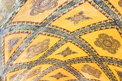 Ceiling ornament in Hagia Sophia Cathedral stock images