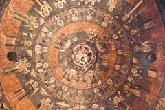 Ceiling of an Orthodox Church. Image of an Orthodox Church showing Jesus Christ in the middle. Around Him you can see the figures of the Popes in Rome depicted royalty free stock photos