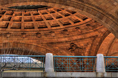 Ceiling of Outdoor Rotunda. Looking up at ceiling of a brick rotunda Stock Photos