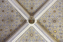 Ceiling painted and decorated Stock Images
