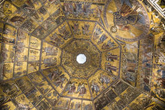 Ceiling painting of the Baptistery of San Giovanni. Florence Stock Image
