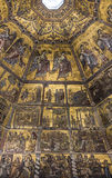 Ceiling painting of the Baptistery of San Giovanni. Florence Stock Photography