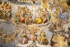 Ceiling painting Giotto's bell tower. Florence. Italy royalty free stock photo