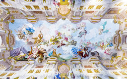 Ceiling painting in  Melk Abbey Royalty Free Stock Image