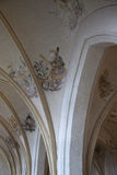 Ceiling painting in the old protestant church Stock Photos