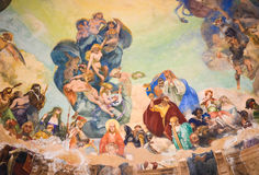 Ceiling painting in Rapallo Royalty Free Stock Images