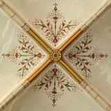 Ceiling painting. Of the Saint Michaël church at Zwolle (the Netherlands stock images