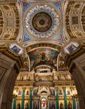 Ceiling painting of St Isaac`s Cathedral Russia Stock Photos