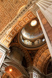 The ceiling painting of St Peter's Basilica Stock Photo