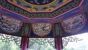 Ceiling in painting. Ceiling in traditional Chinese Painting stock photos