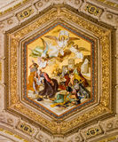 Ceiling Painting in the Vatican stock photography