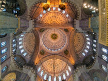 Ceiling painting of Yeni Mosque in Istanbul, Turkey Royalty Free Stock Images