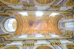 Ceiling paintings of a roman basilica Stock Photos