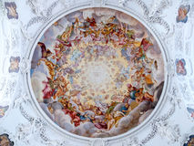 The ceiling paintings of St. Quirinus Royalty Free Stock Photography