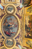 Ceiling in the palace of Versailles Royalty Free Stock Photos