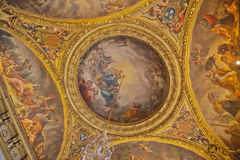 Ceiling in the palace of Versailles Royalty Free Stock Photography