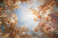 Ceiling in the palace of Versailles Royalty Free Stock Image